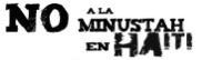 No a la Minustah en Haití