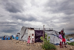 Dark Clouds from Haiti's Hurricane Tomas Loom over Camps