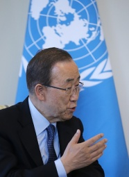 Russian President Putin meets with United Nations Secretary General Ban Ki-moon