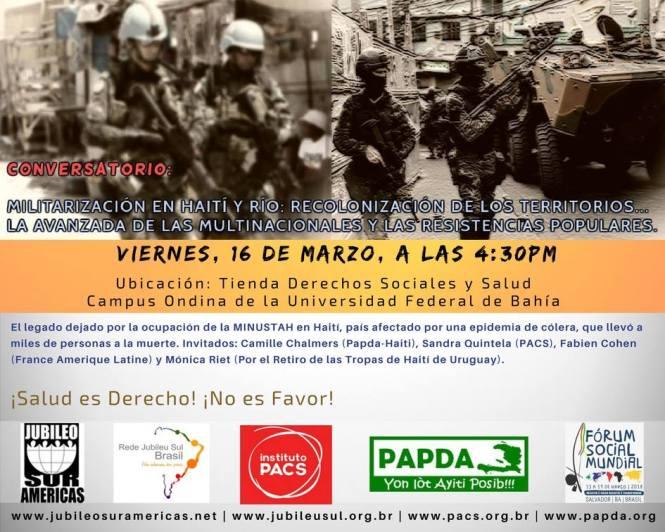 afiche español HAITÍ FSM